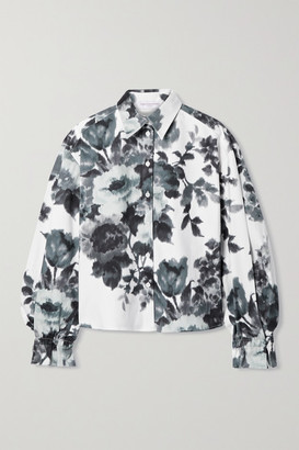 Carolina Herrera Floral-print Cotton-blend Shirt - White