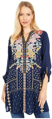 Johnny Was Penn Tunic (Blue Night) Women's Clothing