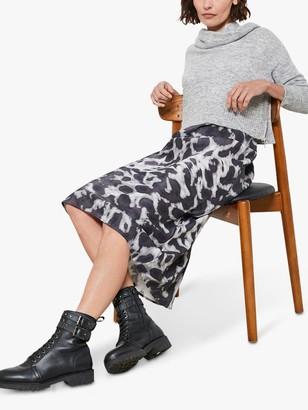 Mint Velvet Alexa Print 2-in-1 Dress, Grey
