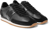 Tom Ford - Leather And Suede Sneakers