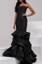 Jovani Tiered Mermaid Dress in Black 41622A