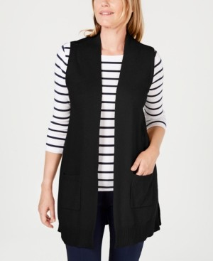 Karen Scott Plus Size Duster Vest, Created for Macy's