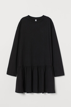 H&M Cotton Jersey Dress - Black