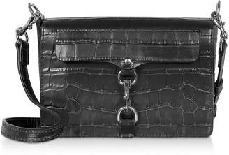 Rebecca Minkoff Croco Embossed Leather Mab Flap Crossbody