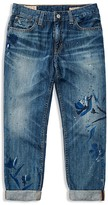 Ralph Lauren Girls' Painted Floral Boyfriend Jeans - Sizes 7-16
