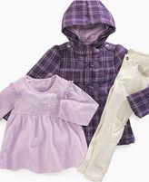 Calvin Klein Jeans Kids Set, Little Girls Plaid 3-Piece Set