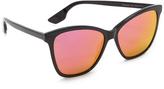 McQ by Alexander McQueen Alexander McQueen Mirrored Wayfarer Sunglasses