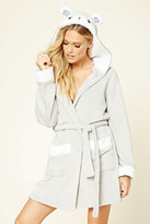 Forever 21 FOREVER 21+ Hooded Bear Robe