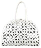Nancy Gonzalez Crocodile Laser Cut Dome Bag