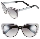 Jimmy Choo Women's 'Cindy' 57Mm Retro Sunglasses - Grey