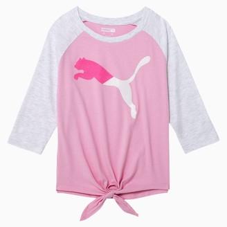Puma Modern Sports Girls' 3/4 Sleeve Fashion Top JR