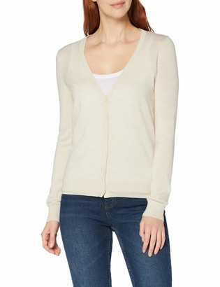 Meraki Amazon Brand Women's Fine Merino Wool V-Neck Cardigan