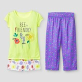 Cat & Jack Girls' 3 Piece Pajama Set Cat & Jack - Yellow