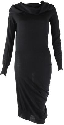 Alexander McQueen Black Wool Dresses