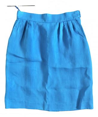 Hermes Blue Linen Skirts
