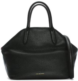 Lulu Guinness Valentina Black & Classic Red Grainy Leather Tote Bag