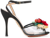 Charlotte Olympia floral sandals - women - Leather/Plastic/PVC/Canvas - 36