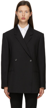 Totême Black Wool Structure Loreo Blazer