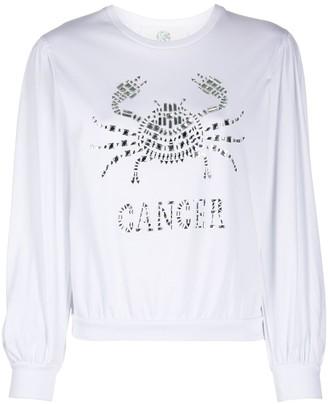 Alberta Ferretti Cancer crystal-embellished sweatshirt