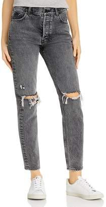 Anine Bing Brenda Destructed Jeans in Gray
