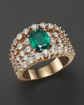 Bloomingdale's Emerald and Diamond Band in 14K Yellow Gold - 100% Exclusive