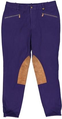 Ralph Lauren Purple Cotton Trousers