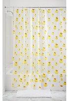 InterDesign Ducks Shower Curtain - PVC Free , 72 x 72, Yellow/Orange