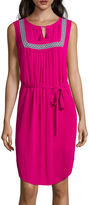 Liz Claiborne Sleeveless Bib-Front Dress - Tall