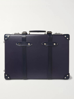 "Globe-trotter 20 Leather-Trimmed Carry-On Suitcase"" - Men - Blue"