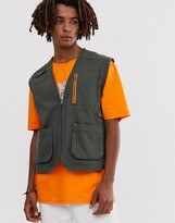 Brooklyn Supply Co. Brooklyn Supply Co utility vest with pockets in khaki
