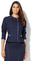 New York & Co. Soho Jeans - Peplum Jacket - Lakeside Blue Wash