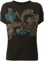 Etro knitted floral print top