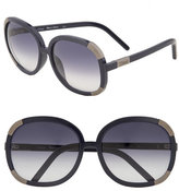 'Myrte' Oversized Round Sunglasses with Metal Detail