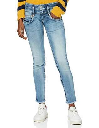 Herrlicher Women's Pitch Slim Cropped Denim Powerstretch Jeans,14 (Size: )