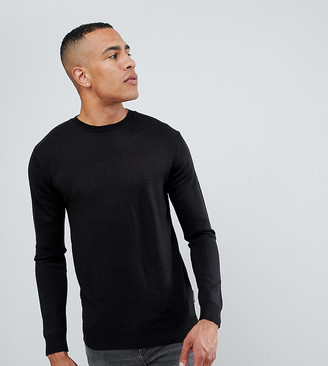 French Connection TALL Plain Logo Crew Neck Knit Sweater