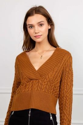 J.ING Auburn Braided Rib Knit Sweater