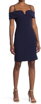 Bebe Cold Shoulder Mini Dress