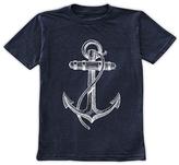 Urban Smalls Navy & White Anchor Tee - Toddler & Boys