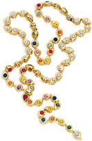 Tamara Comolli Multicolor Sapphire & Diamond Paisley Necklace in 18K Gold