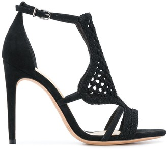 Alexandre Birman Cut-Out Detail Woven Sandals