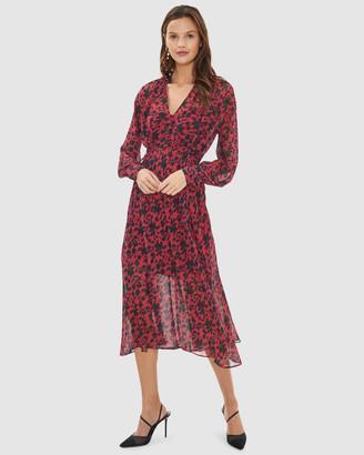 Cooper St Badlands Long Sleeve Midi Dress