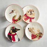 Pier 1 Imports Christmas Animals Salad Plate Set