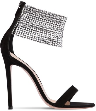 Gianvito Rossi 105mm Embellished Suede Sandals