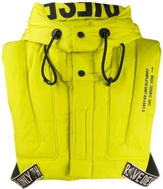Diesel cropped lifejacket gilet