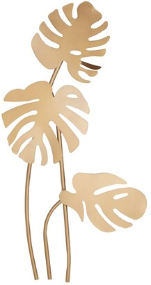 CosmoLiving by Cosmopolitan Large Metallic Gold Metal Palm Leaf Sculptures Wall Decor
