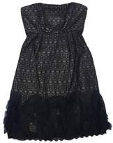 Milly Black Overlay Silk Strapless Dress