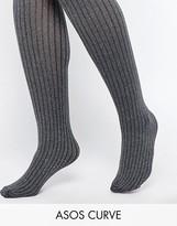 Asos Gray Marl Rib Tights