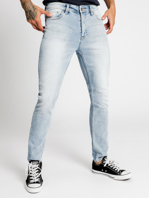 Lee Z-One Slim Tapered Leg Jeans in Corsair Blue Denim
