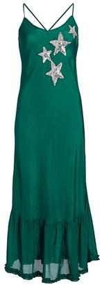 Rixo Odelia Sequin Star Silk Slip Dress