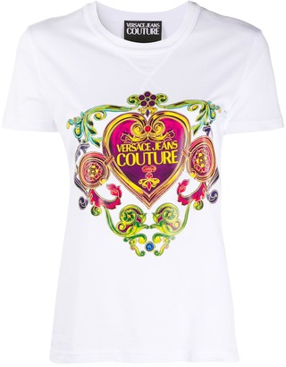 Versace short sleeve baroque print T-shirt